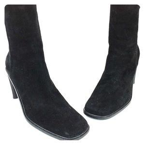SZ 9 Black Karen Scott High Ankle Boots Black
